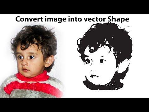Convert image into vector Shape | Photoshop and Illustrator inHindi