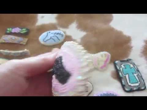 Applique Hand Beaded Western Cowgirl Barrettes I Make with Seed Beads