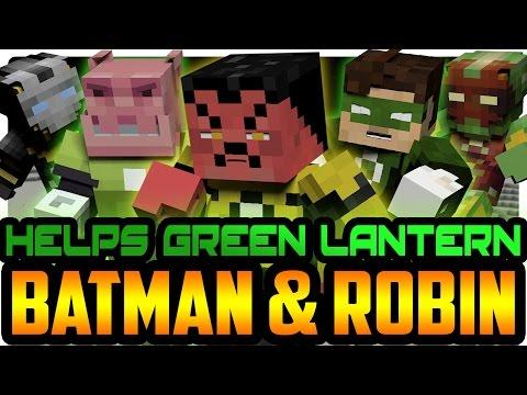 Minecraft: Batman and Green Lantern vs Sinestro! Batman & Robin!