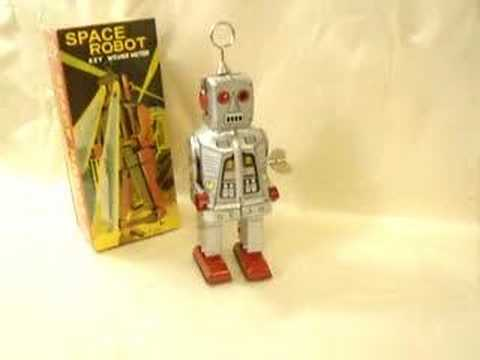 Schylling Silver Space Robot Wind-up Toy