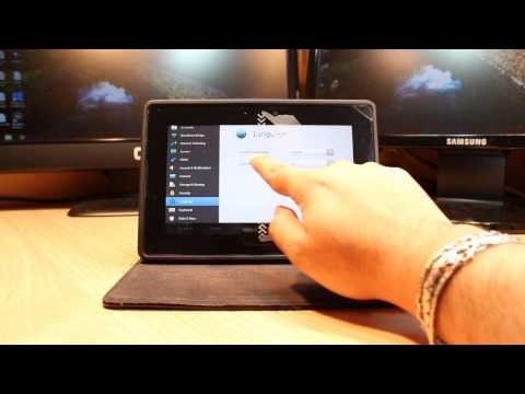 Language & country Change to Blackberry Playbook