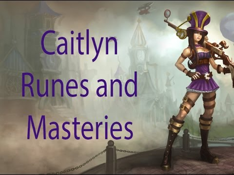Caitlyn Runes and Masteries Season 4