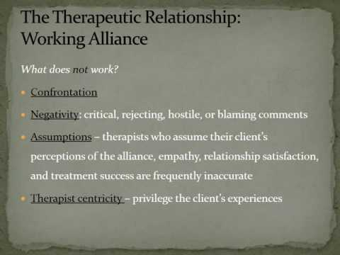 Therapeutic Alliance : Counselor Characteristics