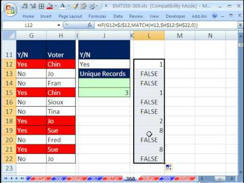 Excel Magic Trick 368: Count Unique Items With More Than One Criteria