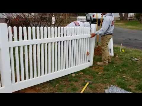 Backyard Fence- Installing a 4' Vinyl fence