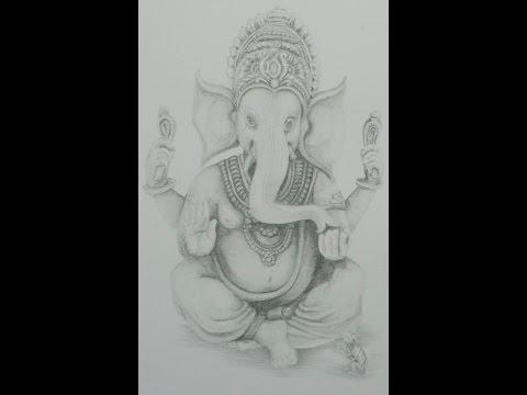 #CACSchoolArt - Drawing Lord Ganesha; Fine Art Pencil. part 1