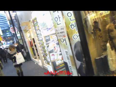 Walking through Myeongdong