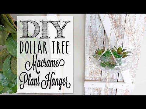 DIY Macrame Plant Hanger | Dollar Tree Craft