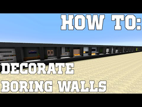 HOW TO: Tutorial | Decorate Your Boring Walls in Minecraft | Design & Build