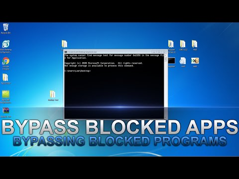 How to Bypass Blocked Programs at School/Work/College etc
