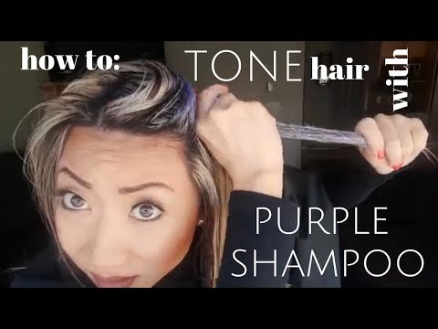 how to TONE your hair with purple shampoo