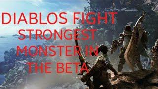MHWorld Beta: Diablos epic multiplayer fight.