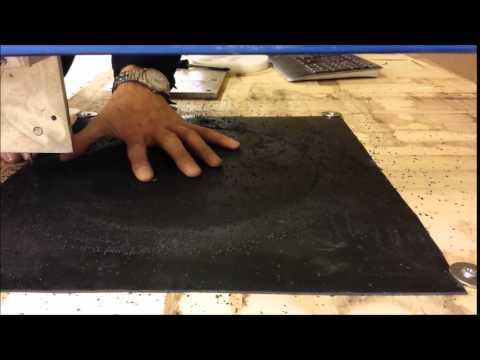 CNC - cutting  a rubber gasket