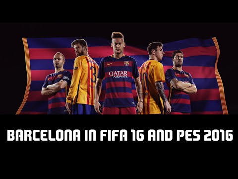 BARCELONA IN FIFA 16 AND PES 2016! (2015/2016 LIGA BBVA CHAMPIONS) (Face Comparison)