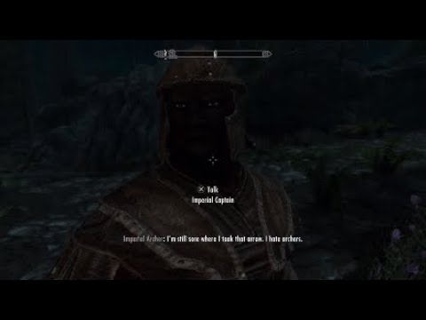 Skyrim Funny Moments: Intro Distractions, Cheesy Joke, Giant Fight