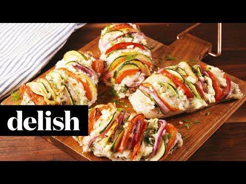 How to Make Greek Stuffed Chicken | Recipe | Delish