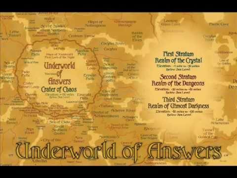 FANTASY MAPS - MYTHOLOGICAL PLACES - UNDERWORLD OF ANSWERS