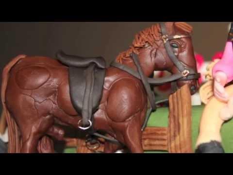 Horse Paddock Birthday Cake