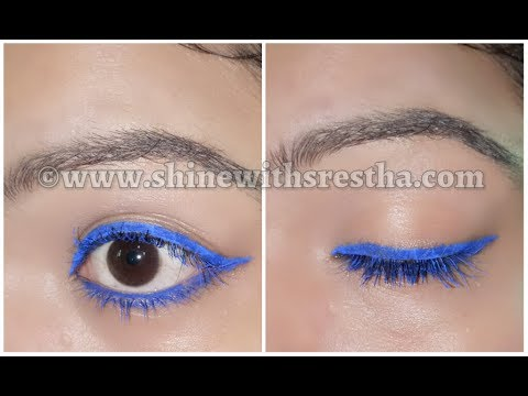Summer Eye Makeup Look | Monsoon Eye Makeup Look | Blue Eye Makeup |