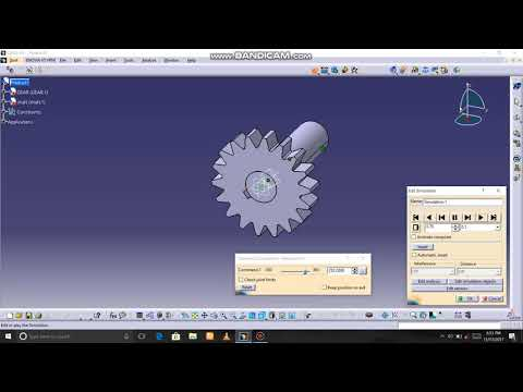 How to assemble gear and shaft and simulation in catia v5