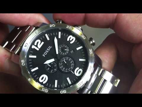 Men's Fossil Nate Chronograph Watch JR1353