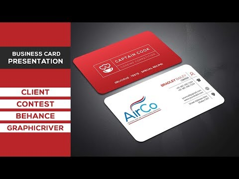 Business Card Presentation for Client / Behance / Graphicriver / Contest - Business Card Free Mockup