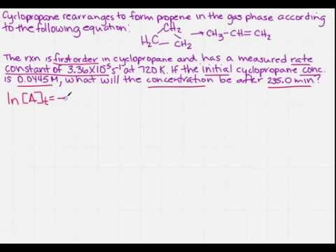 Find the concentration after a certain time in a first order reaction