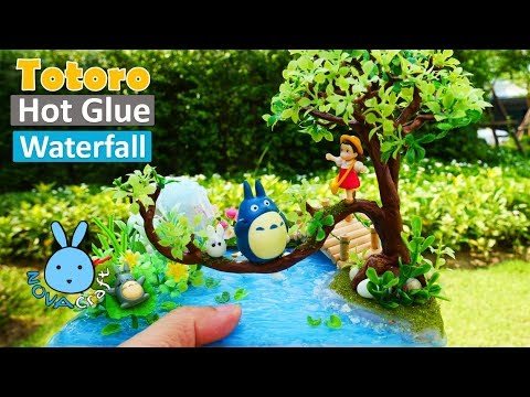 Hot glue waterfall Tutorial Totoro Cute | Awesome Hot Glue Art #030