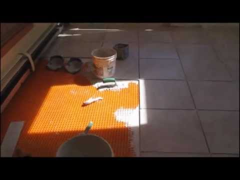 How to install a large format ceramic tile on Shluter Ditra XL