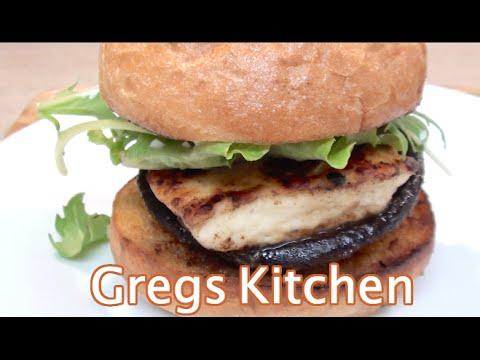VEGETARIAN HAMBURGER - HALLOUMI AND MUSHROOM  - Greg's Kitchen