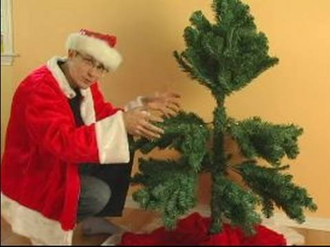 How to Set up an Artificial Christmas Tree : How to Shape an Artificial Christmas Tree