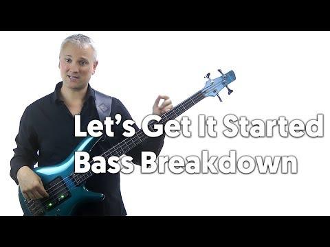'Let's Get It Started' Killer Bass Riff Breakdown!