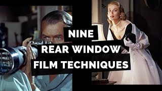 Rear Window Film Techniques for students   Lisa Tran