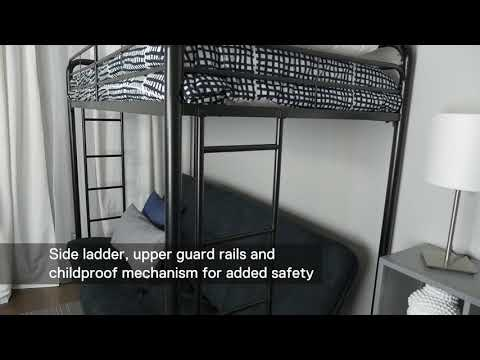 4023017 DHP Twin Over Futon Bunk Bed