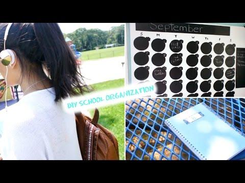 Back to School - School Supplies & Organizing DIYs