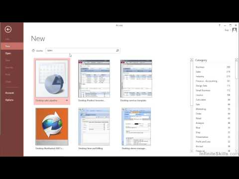 Microsoft Access 2013 Tutorial | Create A Database Using Database Templates