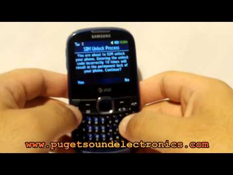 How to unlock At&t Samsung A187
