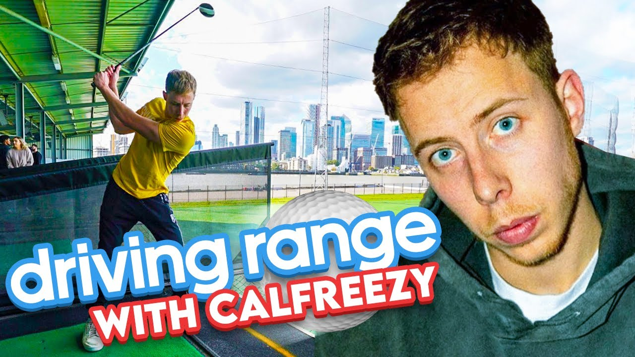 CALFREEZY ON THE GOLF DRIVING RANGE | BEHZINGA & W2S TAKING IT UP TOO