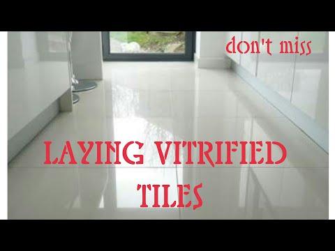 Laying Vitrified Tiles on Floor Step by Step procedure- ವಿಟ್ರಿಫೈಡ್ ಟೈಲ್ಸ್ ಹಾಕುವ ವಿಧಾನ