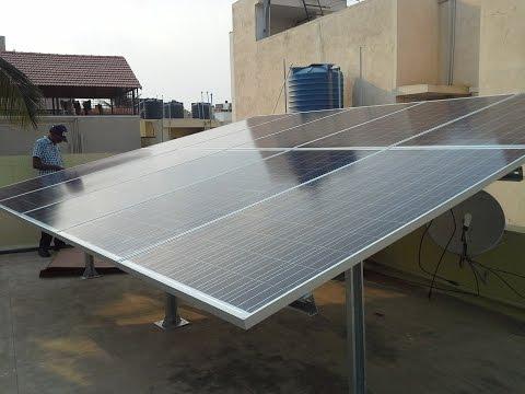 Solar panel installation in India - PLASMASOLAR