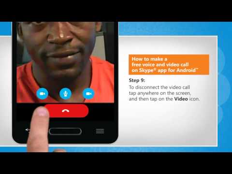 How to make a free voice and video call on Skype® app for Android™ on LG L9