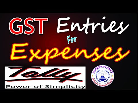 GST Expenses Entries with RCM in Tally ERP 9 Part-13|GST Expenses Entries in Tally Reverse Charges