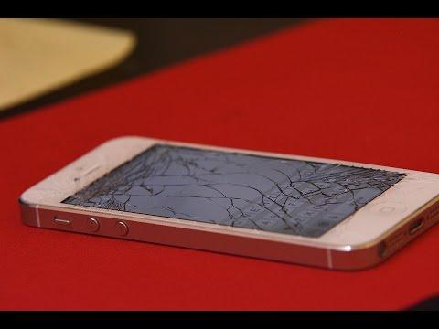 cracked APPLE iphone PRANK!!   HOW TO PRANK