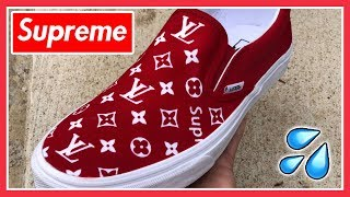 9fadadd011951 SUPREME x LOUIS VUITTON VANS - (Full Tutorial) + (Giveaway Results)