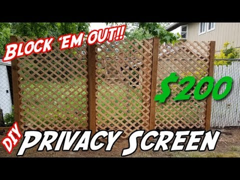 How to Build a Privacy Wall | DIY Privacy Screen | DIY Lattice Privacy Wall