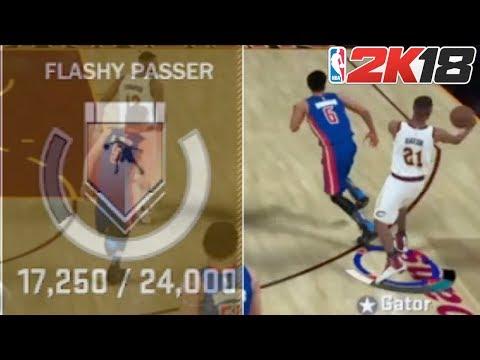 NBA 2K18 BADGE TUTORIAL | FLASHY PASSER | EASY METHOD TO GET IT