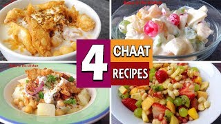 4 Ramzan Special Chaat Recipes | Ramzan Special | Iftar Special by (HUMA IN THE KITCHEN)