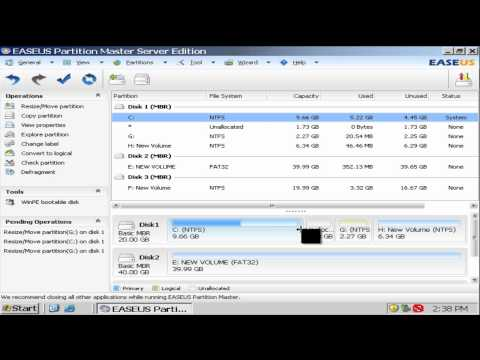 Resize Server Partition Manager Software