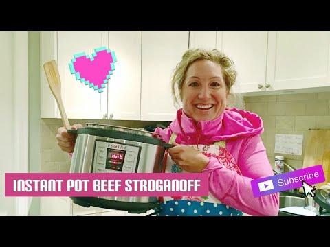 Beef Stroganoff in the Instant Pot