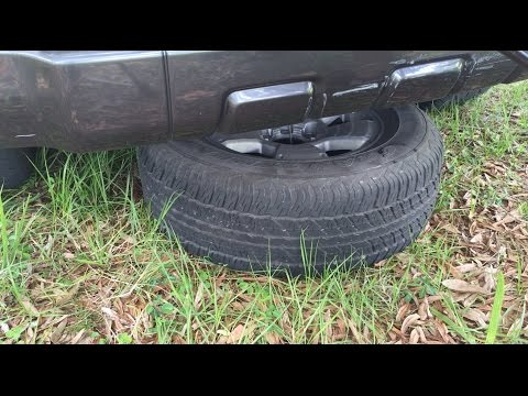How to remove a spare tire on Toyota truck or SUV.